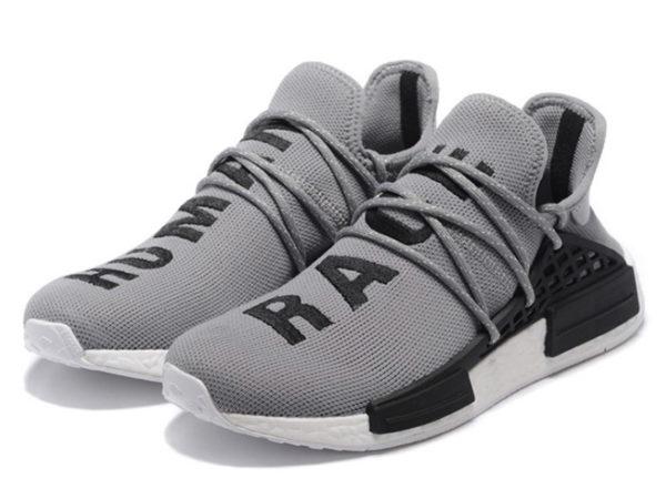 Кроссовки Adidas NMD Human Race мужские серые с черным