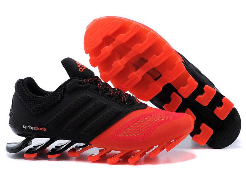 ce834f870dcd Кроссовки Adidas Springblade мужские черно-оранжевые - купить в ...