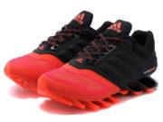 Кроссовки Adidas Springblade мужские черно-оранжевые - фото спереди