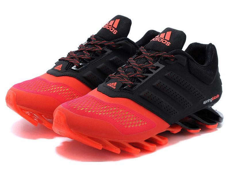 a7e8da253aa5 Кроссовки Adidas Springblade мужские черно-оранжевые - фото спереди ...