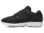 Adidas ZX Flux черные с белым - фото слева