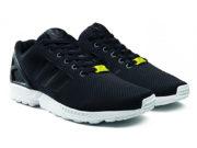 Adidas ZX Flux черные с белым - фото спереди
