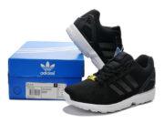 Adidas ZX Flux черные с белым - общее фото