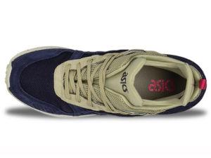 Кроссовки Asics Gel Lyte 3 мужские синие с бежевым - фото сверху