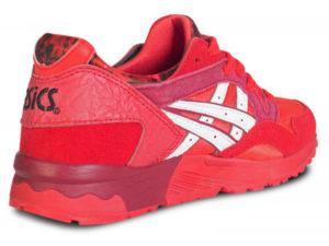 Кроссовки Asics Gel Lyte 5 красные с белым мужские - фото сзади