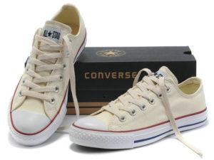 Кеды Converse Chuck Taylor All Star бежевые женские и подростковые - общее фото