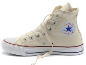Высокие кеды Converse Chuck Taylor All Star бежевые - фото слева