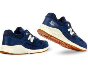 Кроссовки New Balance 530 мужские темно-синие с белым - фото сзади