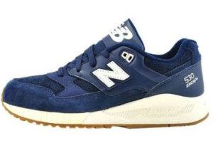 Кроссовки New Balance 530 мужские темно-синие с белым - фото слева