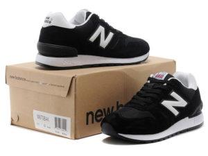Кроссовки New Balance 670 черные с белым - общее фото