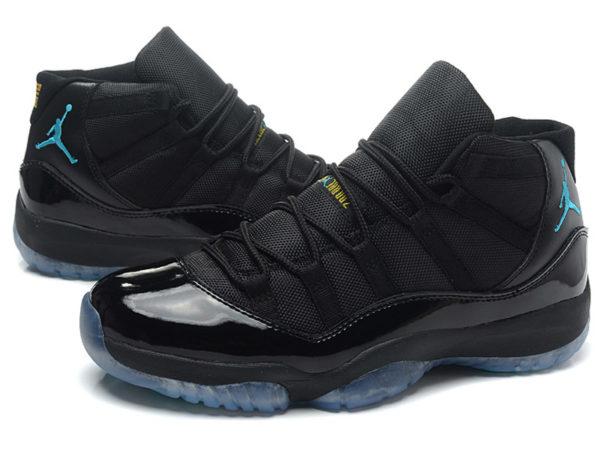 Кроссовки Nike Air Jordan 11 Retro мужские черные с синим