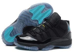 Кроссовки Nike Air Jordan 11 Retro мужские черные с синим - общее фото