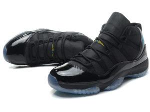 Кроссовки Nike Air Jordan 11 Retro мужские черные с синим - фото спереди