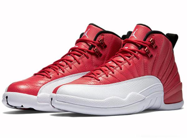 Кроссовки Nike Air Jordan 12 мужские красно-белые