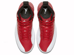 Кроссовки Nike Air Jordan 12 мужские красно-белые - фото сверху