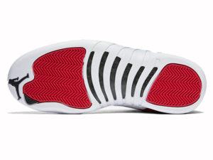 Кроссовки Nike Air Jordan 12 мужские красно-белые - фото подошвы