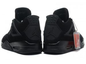Кроссовки Nike Air Jordan 4 Retro черные - фото сзади