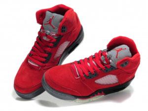 Кроссовки Nike Air Jordan 4 Retro мужские красные - фото спереди