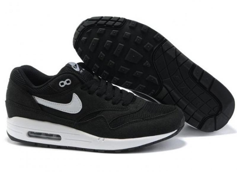 17b9a9502bf4 Кроссовки Nike Air Max 87 мужские черные с белым - купить в интернет ...