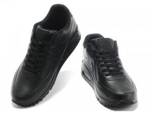 Кроссовки Nike Air Max 90 черные - фото спереди