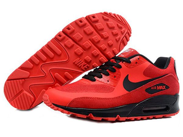Кроссовки Nike Air Max 90 Hyperfuse мужские красные с черным