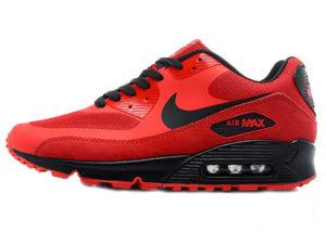 Кроссовки Nike Air Max 90 Hyperfuse мужские красные с черным - фото слева