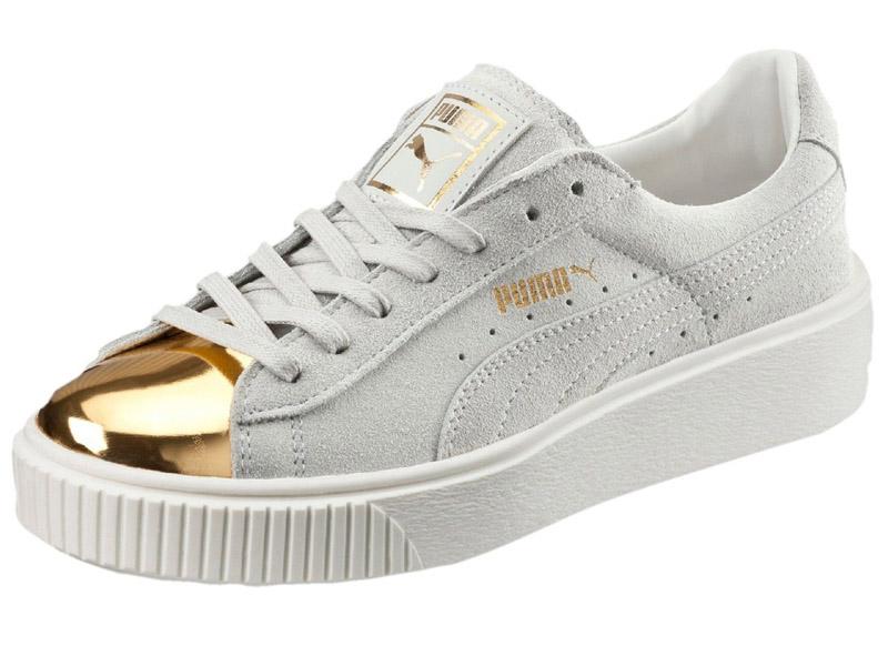 Кроссовки Puma by Rihanna Creeper женские белые с золотым - купить в ... f26623d7138