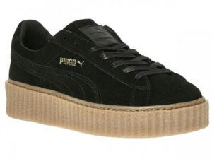 Кроссовки Puma by Rihanna Creeper женские черные - фото спереди