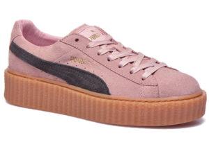Кроссовки Puma by Rihanna Creeper женские розовые с черным - фото справа