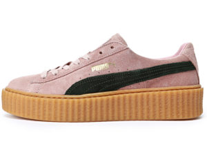 Кроссовки Puma by Rihanna Creeper женские розовые с черным - фото слева