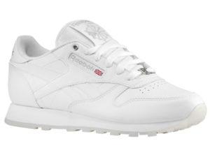 Кроссовки Reebok Classic белые - фото справа