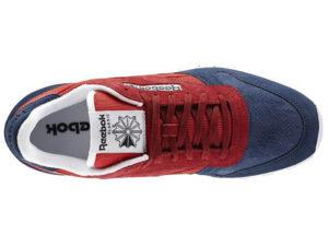 Кроссовки Reebok Classic женские красно-синие - фото сверху