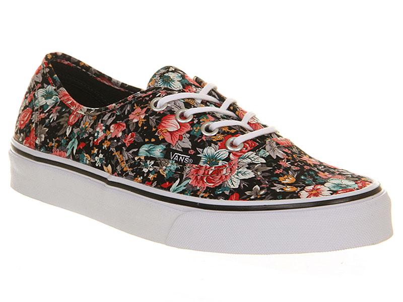Кеды Vans Authentic женские с цветочным узором