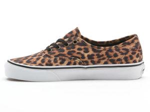 Кеды Vans Authentic женские леопардовые бежевые - фото слева