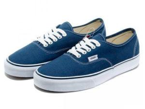 Кеды Vans Authentic темно-синие - общее фото
