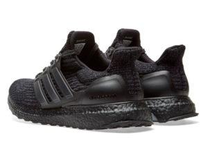 Кроссовки Adidas Ultra Boost мужские черные - фото сзади