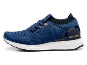 Кроссовки Adidas Ultra Boost мужские синие с черным - фото слева