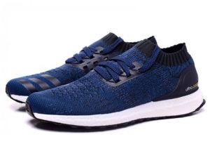Кроссовки Adidas Ultra Boost мужские синие с черным - общее фото