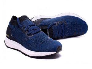 Кроссовки Adidas Ultra Boost мужские синие с черным - фото спереди