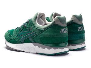 Кроссовки Asics Gel Lyte 5 темно-зеленые мужские - фото сзади
