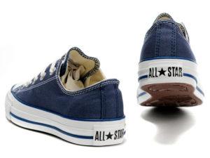 Кеды Converse Chuck Taylor All Star синие - фото сзади