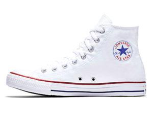 Высокие кеды Converse Chuck Taylor All Star белые - фото слева