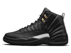 Кроссовки Nike Air Jordan 12 Retro черные мужские - фото слева