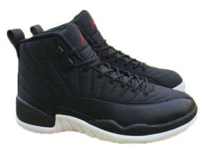 Кроссовки Nike Air Jordan 12 Retro черные с белым мужские - фото справа