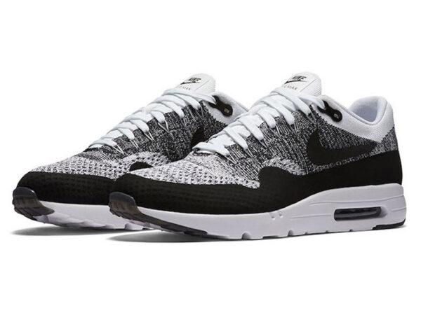 Кроссовки Nike Air Max 87 белые с черным мужские