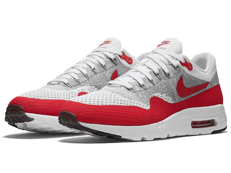 Кроссовки Nike Air Max 87 белые с красным мужские