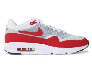 Кроссовки Nike Air Max 87 белые с красным мужские - фото справа
