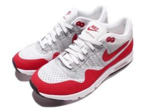 Кроссовки Nike Air Max 87 белые с красным мужские - фото сверху