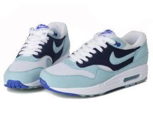 Кроссовки Nike Air Max 87 голубые с синим женские - фото спереди
