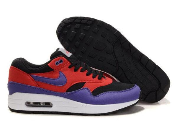 Кроссовки Nike Air Max 87 красно-фиолетовые с черным женские